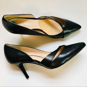 Nine West Kemble black Leather pumps shoes 6.5